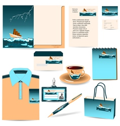 Presents with business ship vector