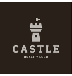 Abstract castle fortress trending flat quality vector
