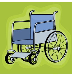Wheelchair icons vector