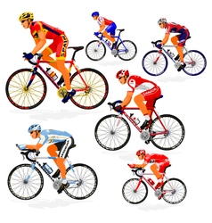 National cyclist 2 vector