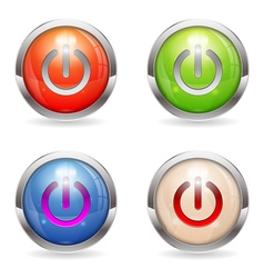 Set gloss button with switch vector