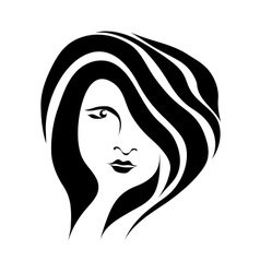 Abstract beautiful woman face vector