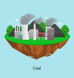 Alternative energy power industry coal power vector