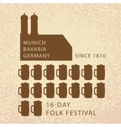 Beer infographics of oktoberfest in munich vector