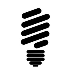 Black silhouette of fluorescent light bulb vector