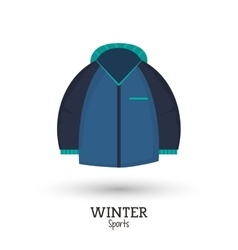 Blue jacket winter sport vector