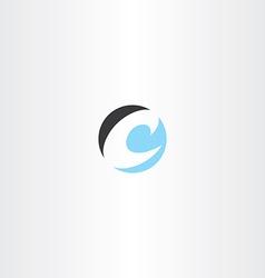 Circle letter c symbol logo icon logotype vector