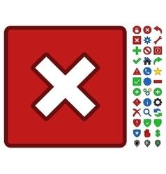 Close symbol with toolbar icon set vector