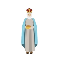 Colorful figure human a wise man gaspar vector