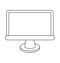 Computer monitor frontiview icon image vector