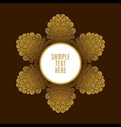 Creative golden royal color banner or label desig vector