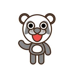 Cute panda toy kawaii image vector