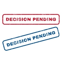 Decision pending rubber stamps vector