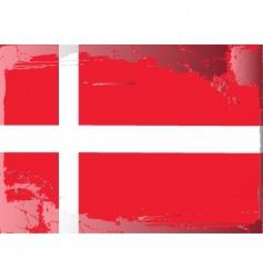 Denmark national flag vector image vector image