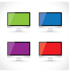 Display LCD screens vector image