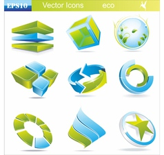 Eco symbols and icons vector image