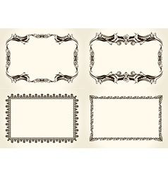 frameworks set Ornate and vintage design elements vector image vector image
