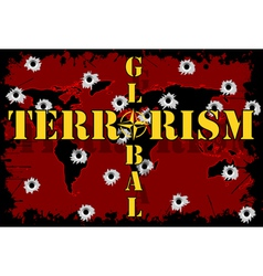 Global terrorism vector image