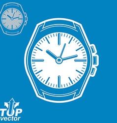 graphic pocket watch invert version include vector image