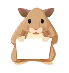Hamster With Sign vector image vector image