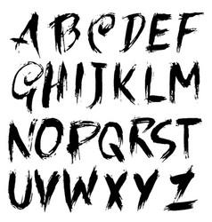 Handdrawn dry brush font modern brush lettering vector
