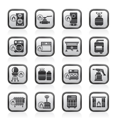 Household Gas Appliances icons vector image vector image