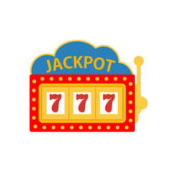 jackpot on a slot machine vector image