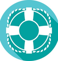 Lifesaver icon vector