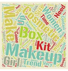 Makeup Boxes text background wordcloud concept vector image vector image