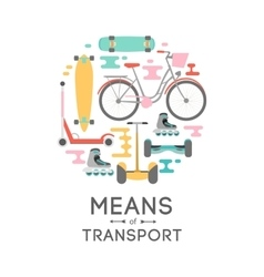 Means of transport background vector