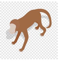 Monkey isometric icon vector