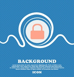 Pad lock sign icon blue and white abstract vector