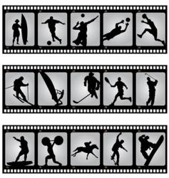 sport filmstrip scene vector image vector image