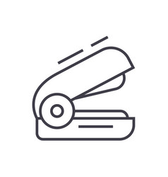 stapler line icon sign on vector image