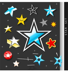 Star symbol set vector image vector image
