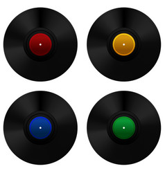 Vinyl record set vector