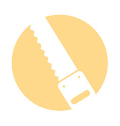 Woodworking saw isolated icon vector