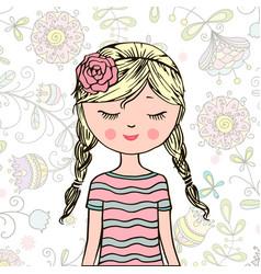 young beautiful cute sweet girl vector image vector image