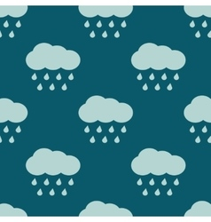 Clouds and rain weather seamless pattern vector