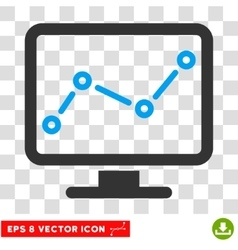 Chart Monitoring Eps Icon vector image