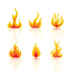 Set of fire icons vector