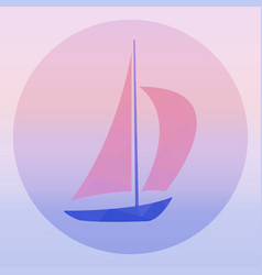 Sailboat - logo concept vector