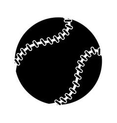 baseball ball sport game pictogram vector image