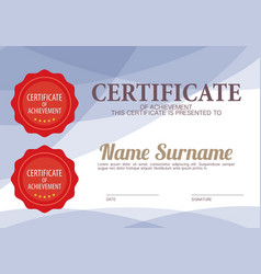 Blank certified border template vector