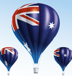 Hot balloons painted as australian flag vector