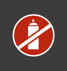 spray can color icon icon flat web sign symbol vector image
