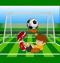 Super goalkeeper vector