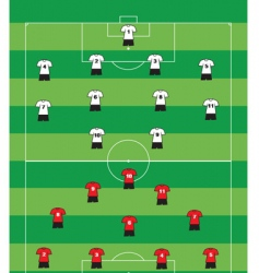 soccer formation vector image