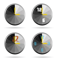 Clock set color vector