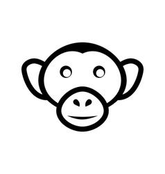 icon monkey head isolated on white background - vector image